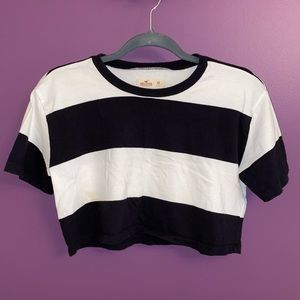 Hollister Cropped Striped Tee